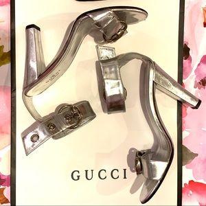 Silver Gucci Heels